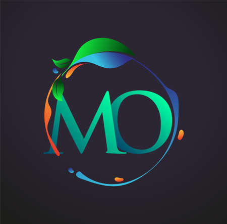 Initial Letter MO With nature elements Logo, colorful nature and environment logo. vector logo for business and company identity.