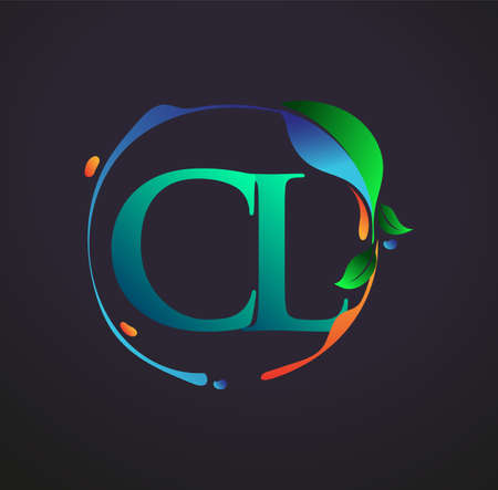 Initial Letter CL With nature elements Logo, colorful nature and environment logo. vector logo for business and company identity.