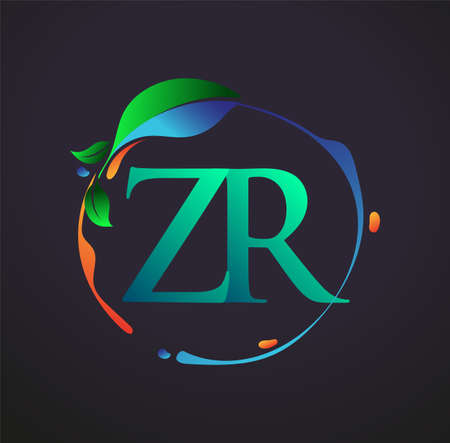 Initial Letter ZR With nature elements Logo, colorful nature and environment logo. vector logo for business and company identity.