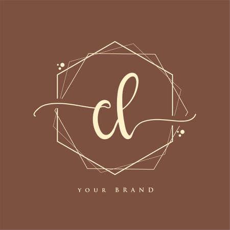 CL Initial handwriting logo. Hand lettering Initials logo branding, Feminine and luxury logo design. Logó