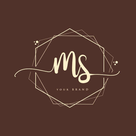MS Initial handwriting logo. Hand lettering Initials logo branding, Feminine and luxury logo design.