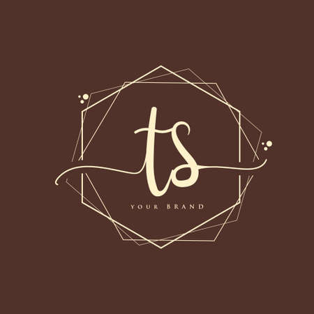 TS Initial handwriting logo. Hand lettering Initials logo branding, Feminine and luxury logo design.