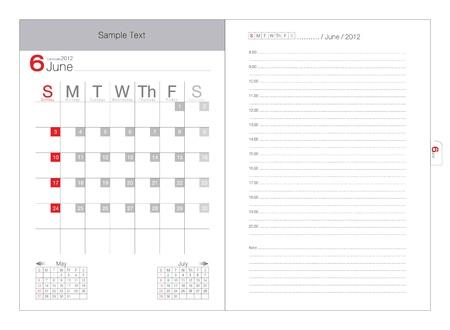 vector calendar 2012 june Vector