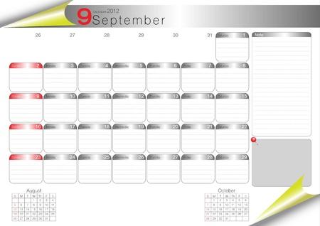 vector organizer table 2012 september Vector