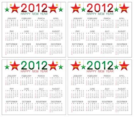 calendar 2012 Illusztráció