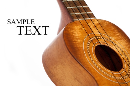 ukulele isolated photo