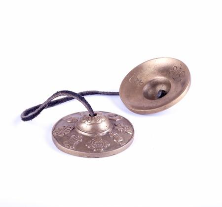 cymbal: small Nepal cymbal Stock Photo
