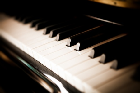 black and white piano keys photo