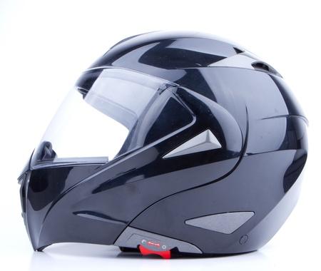 timone: Nero, casco lucido, isolato su sfondo bianco