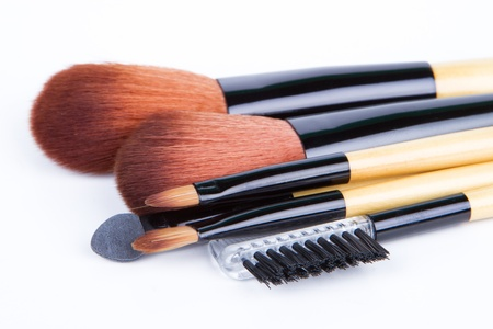 Professional make up and powder brushes photo