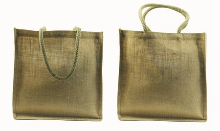 shoulder bag: Hemp shoulder bag isolated