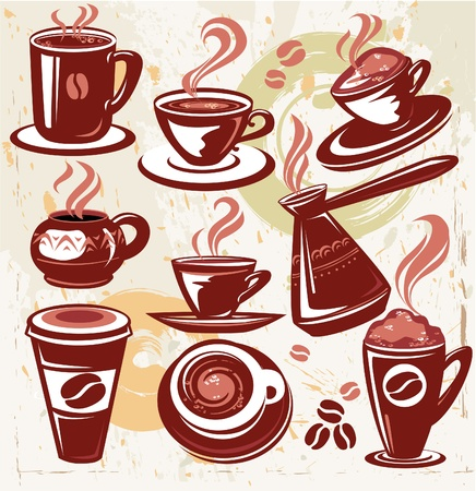 turkish coffee: Set of coffee symbols Illustration
