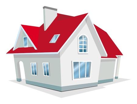 rij huizen: Vector Illustratie van het huis
