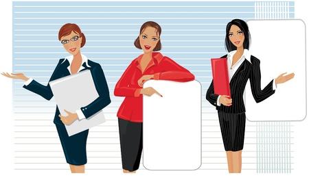 businesswomen: Beautiful woman giving presentation