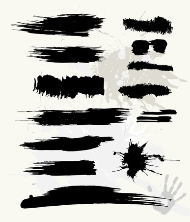 grungy dots: grunge brush