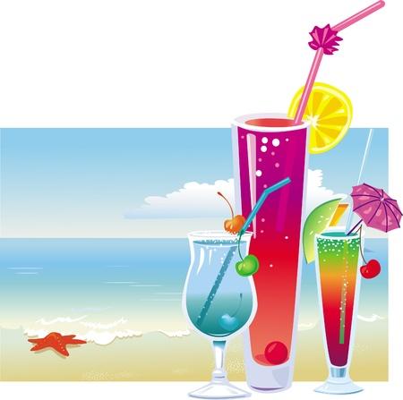 orange juice glass: Cocktail sulla spiaggia