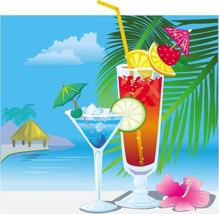 coctel de frutas: C�cteles en la playa