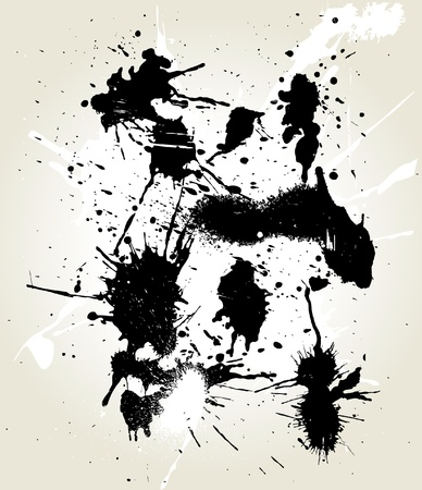 squirt: messy ink splats Illustration
