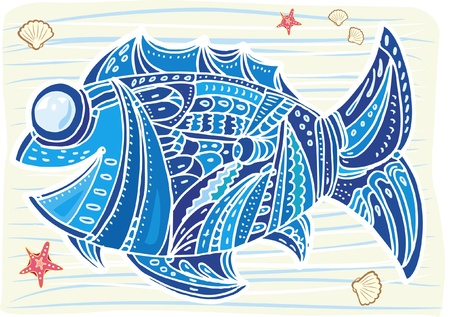 decorative fish Stock Vector - 9626418