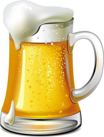 vasos de cerveza: Bote m�gico con moneda de oro
