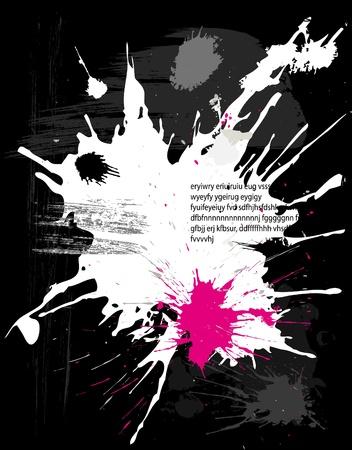 splash paint: sur fond noir grunge mouchetures