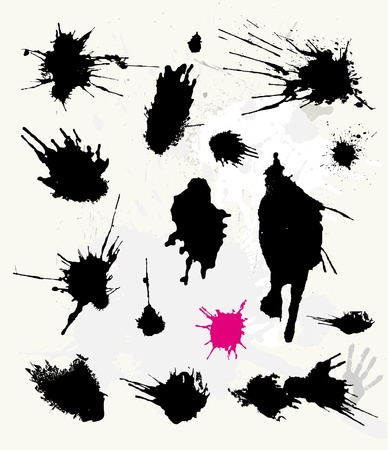 squirt: Set of ink splats