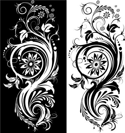 stencil: Stylized flower
