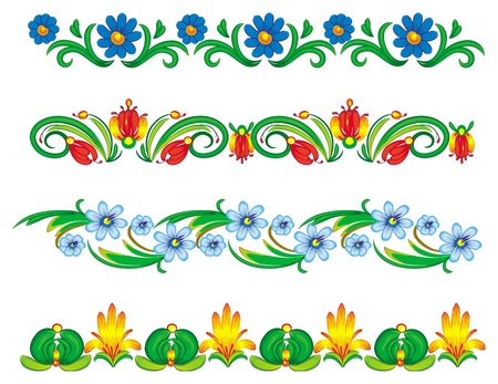 Border of floral elements Stock Vector - 9626523