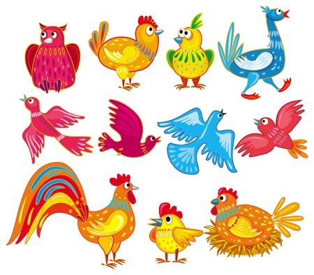 abstract birds Stock Vector - 9626504