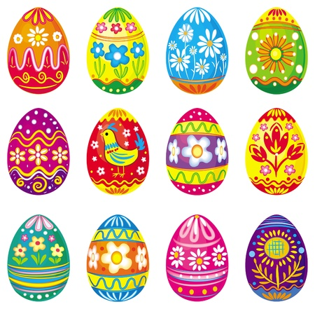 pascuas navide�as: Colecci�n de huevos de vectores