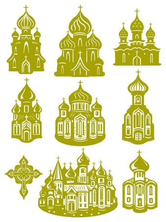 orthodox church: church orthodox Illustration
