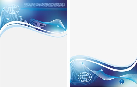 Blue business template Stock Vector - 9668908