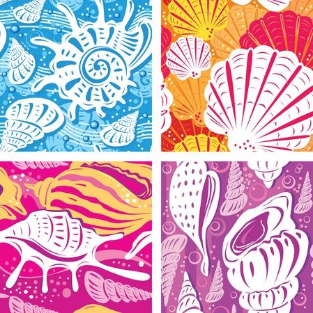 shell pattern: Seamless shell pattern