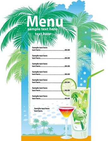 menu de postres: Dise�os de plantilla de men� de c�cteles Vectores