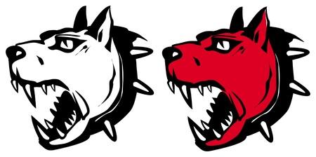 angry dog Иллюстрация
