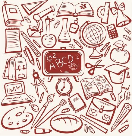 accessoire: Enseignement scolaire et esquissez ensemble