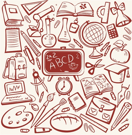 School and education sketch set Stock Vector - 9668942