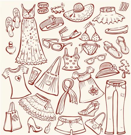 ropa de verano: Conjunto de ropa de verano de la mujer