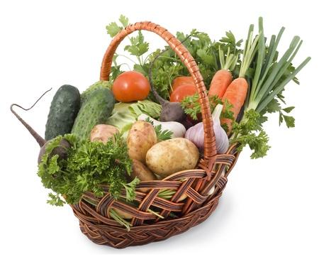 grocery baskets: Basket with vegetables