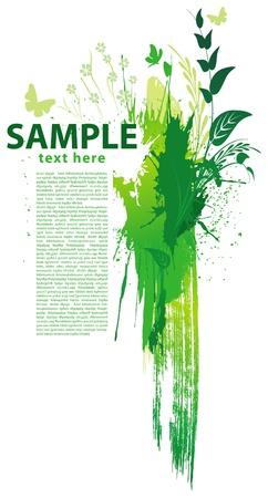green energy: Green grunge background