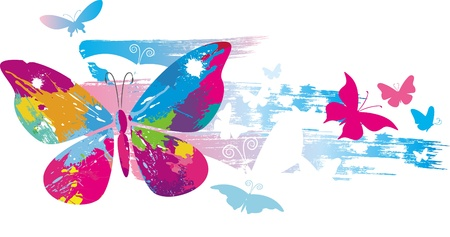 splats: Butterflies and line brushes