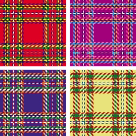 pattern of seamless tartan plaid Vector
