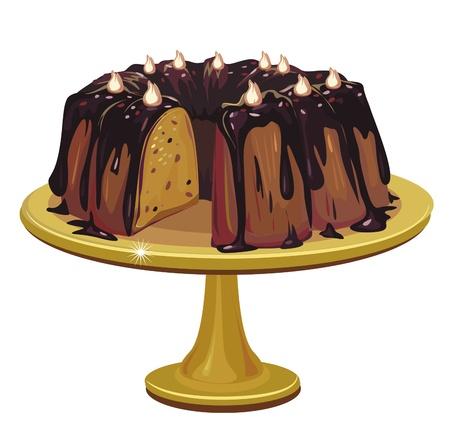 porcion de torta: pastel de chocolate