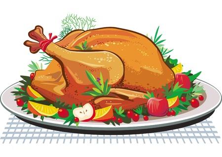 pollo arrosto: Arrosto Turchia sul piatto