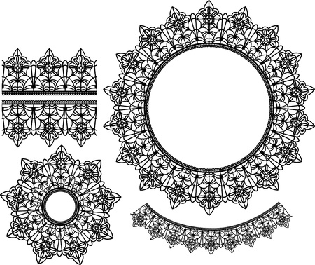 Set of lace elements Stock Vector - 9716707