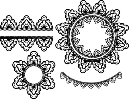 edging: Set of lace elements