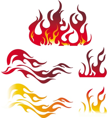 fiery: Fire graphic elements Illustration