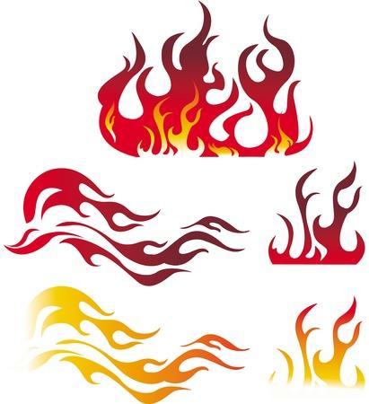 fire danger: Fire graphic elements Illustration