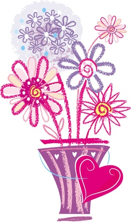 hands plant: Floral's card