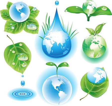 PojÄ™cie symbole ekologii Zdjęcie Seryjne - 9745278